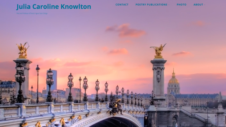 Professor Julia Knowlton utilized the CDVL to create a domain to host her poetry.