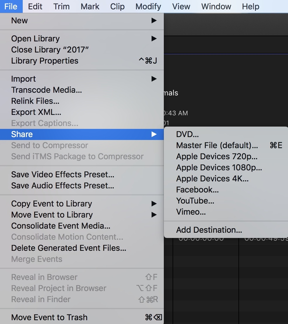 Final Cut Pro – CENTER FOR DIGITAL AND VISUAL LITERACY